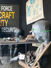 Alien Window Display in Roswell, New Mexico