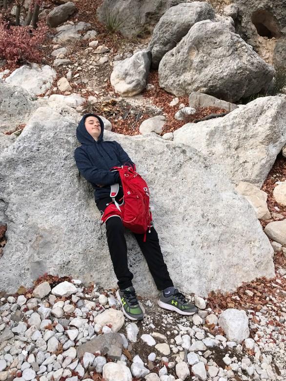 Carter Bourn Taking a Trail Nap