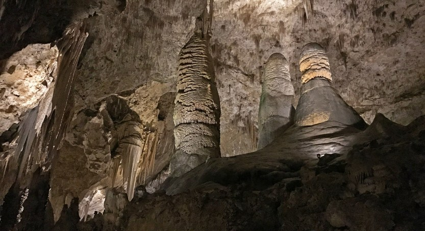 Giant Stalagmites on the Big Room Trail