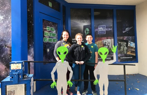 Jennifer Bourn and Kids at the Roswell, New Mexico International UFO Museum
