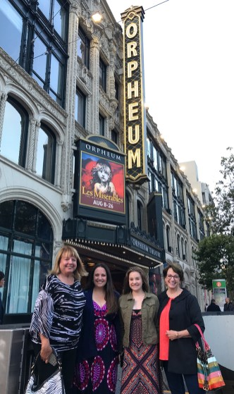 June, Natalie, Jennifer, and Linda at the Orpheum