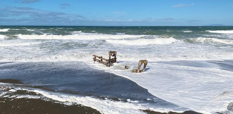 Mori Point Beach in Pacifica, California