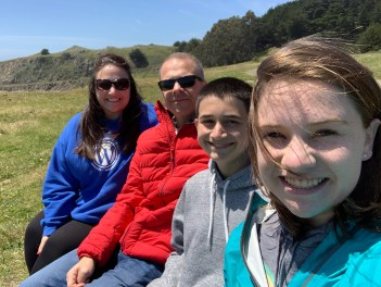 Bourn Family at Fort Ross Beach Overlook