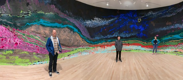 Brian, Carter, and Natalie Bourn at the SF MOMA