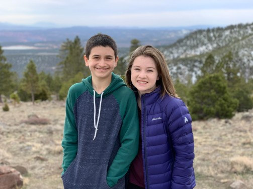 Carter and Natalie Bourn at the Larb Hollow Overlook