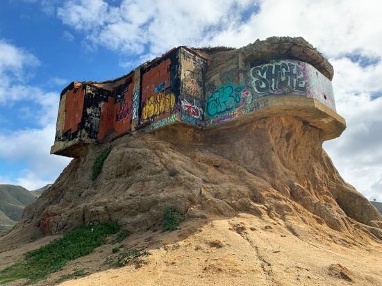 Devil's Slide Adbandoned Military Bunker Covered In Graffiti