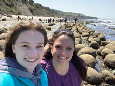 Natalie and Jennifer Bourn at Bowling Ball Beach