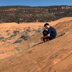 Carter Bourn Sand Sledding In Utah