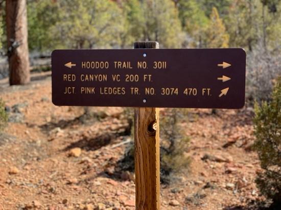 Hoodoo Trail Sign