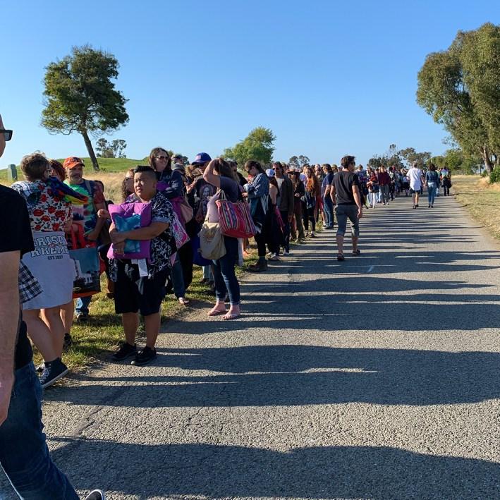 Line To Enter Shoreline Amphitheater