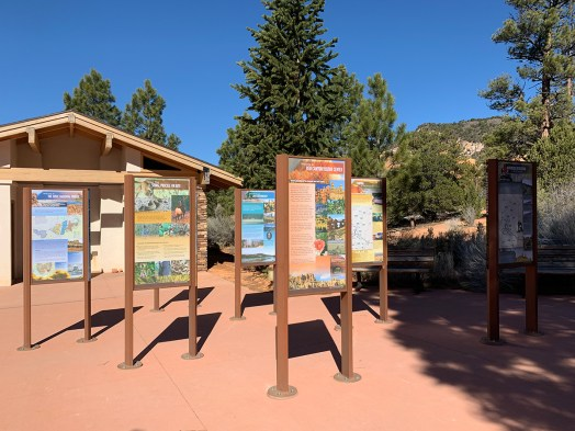 Red Canyon Visitor Center Signs