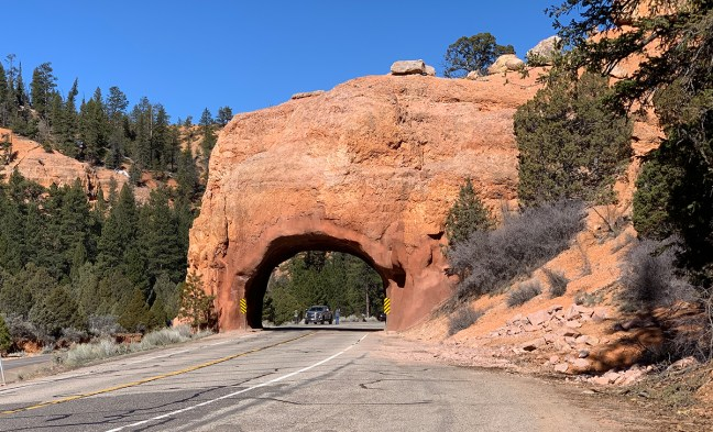 Rock Arch Over The Highway