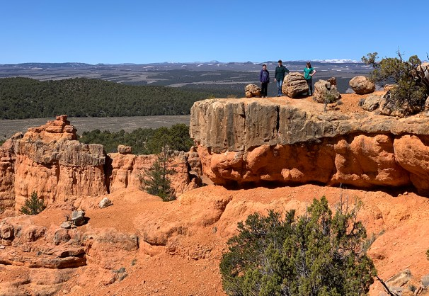 Standing High Atop The Ridge On The Arches Trail