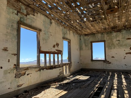 Inside a Ghost Town Building