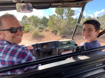 Brian and Carter Bourn Driving A UTV in Zion