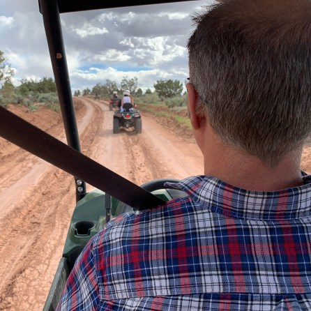 Brian Bourn Driving A UTV