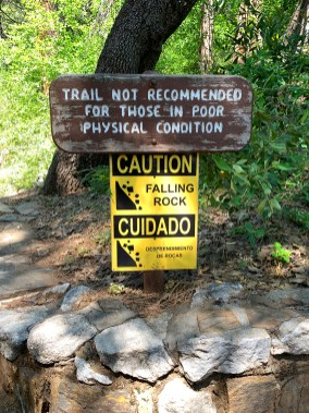 Crystal Cave Trail Warning Sign