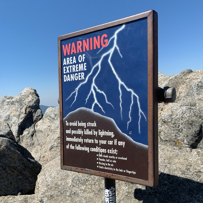 Lightning Warning Sign