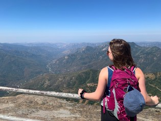 Natalie Bourn Looking Out on Sequoia National park