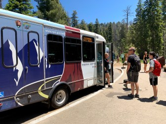 Shuttle Bus At Sequoia National Park