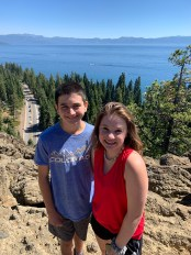 Carter and Natalie Bourn at Eagle Rock Overlooking Lake Tahoe