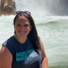 Jennifer Bourn at Roaring River Falls