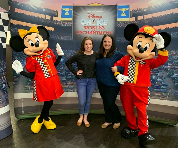 Natalie and Jennifer Bourn with Mickey and Minnie