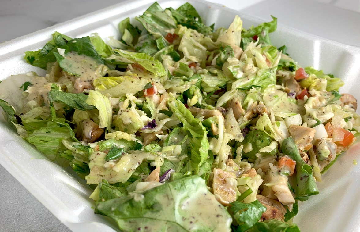 Takeout Chicken Green Salad