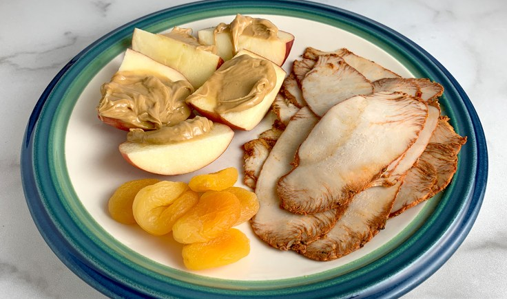 Turkey And Apple with Almond Butter and Dried Apricots