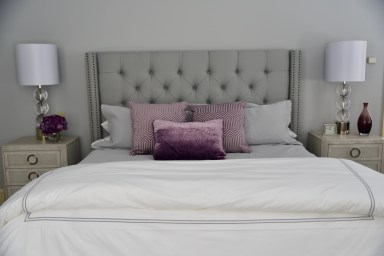 Bedroom with Lavender Accents
