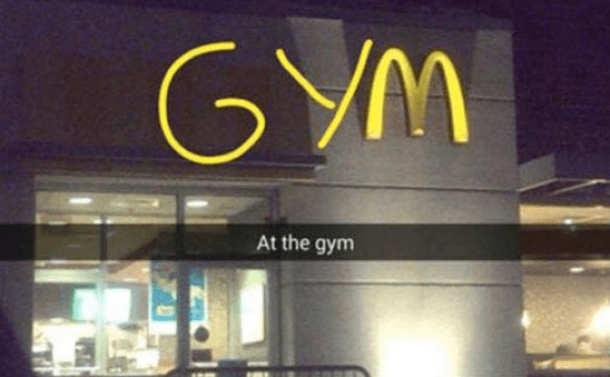 New Years Resolution Gym Fail Snapchat