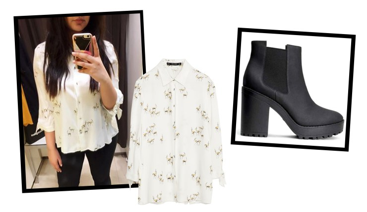February Favourites Zara Gazelle Shirt H&M Boots