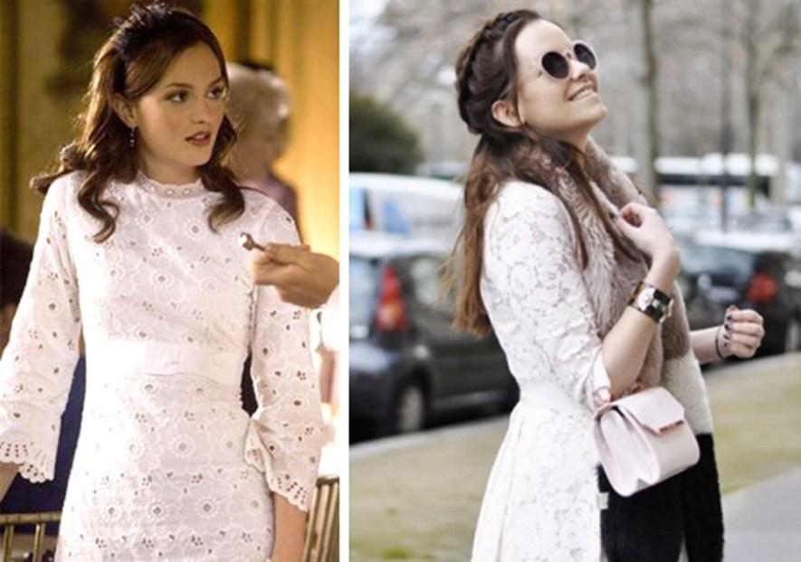 Blair Waldorf Sylvia Sparkles Dennis Lace Dress Girl Blog Blogger Fashion Style Travel French London