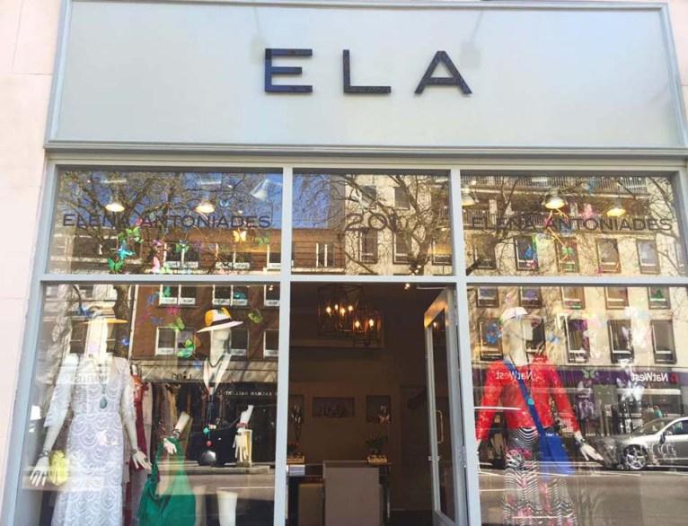 ELA London Knightsbridge Front Shop Fashion Store Opening