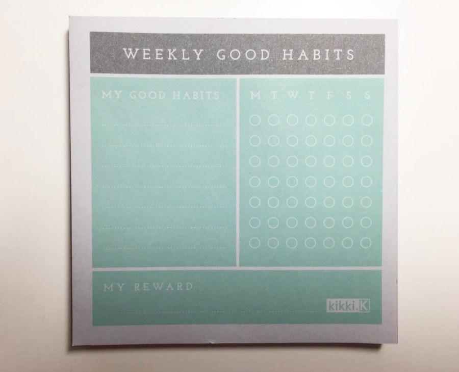 Habits Happy Healthy Kikki.K Box Weekly Tracker Pad