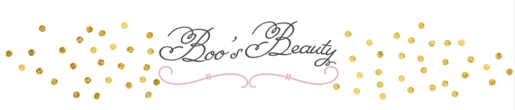 Boo's Beauty Blog Header Pink Gold