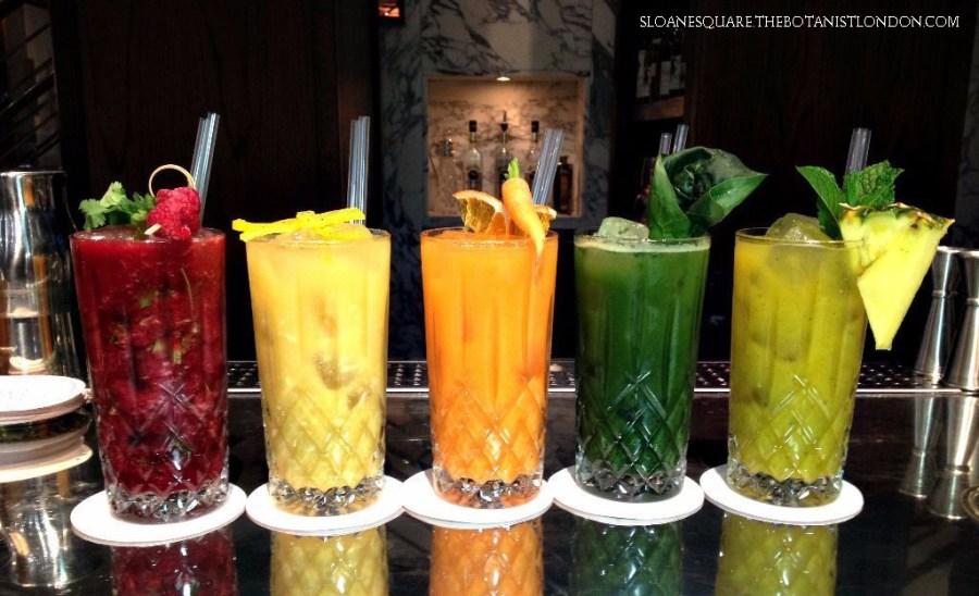 Botanist Healthy Cocktails London Chelsea Drinks