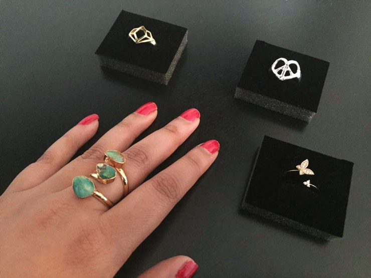 Zara Taylor Rings Hand Gem Stone Wrap Twist Jewellery