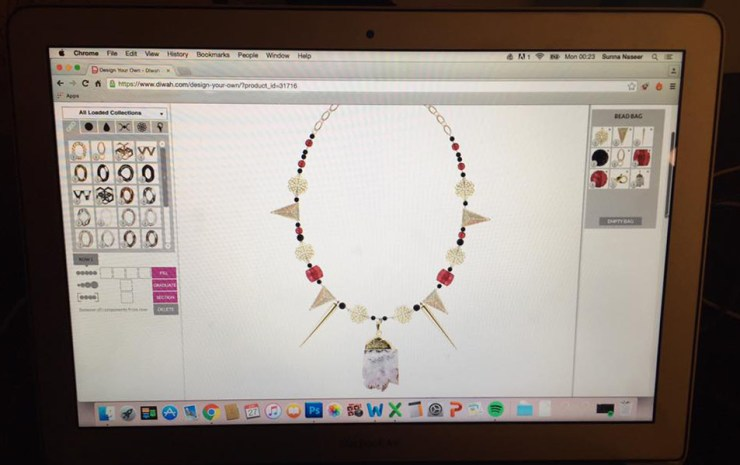 DIWAH Jewellery Necklace Design Craft Website