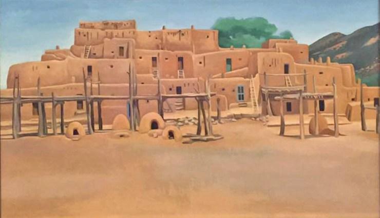 Georgia O'Keeffe Tate Modern Painting Taos Pueblo