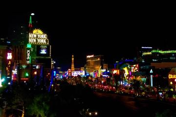 Las Vegas Strip New York Travel America City Guide Hotel Night Sky Cityscape