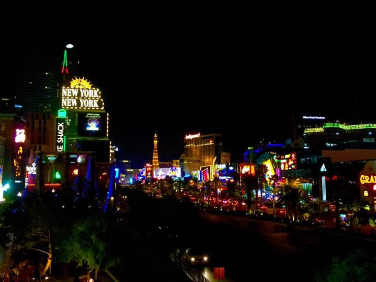 Las Vegas Strip New York Travel America City Guide Hotel Night Sky Cityscape