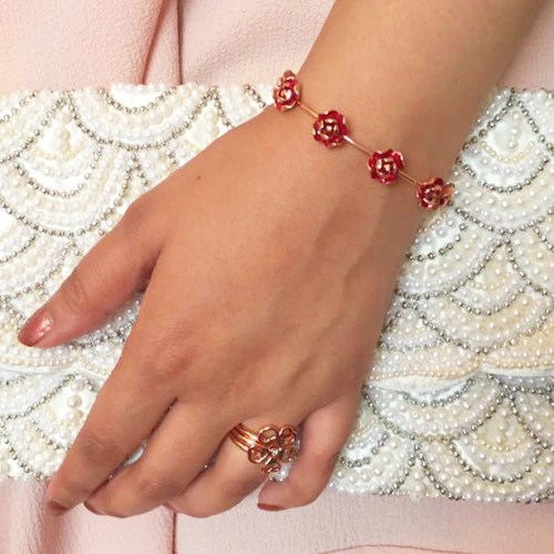 Ted Baker Rose Gold Jewellery Collection Bangle Bracelet Clutch Bag 3