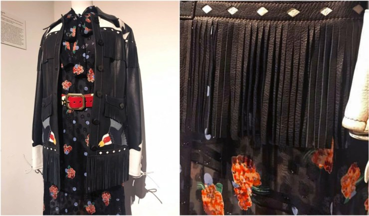 Anna Sui Fashion Textiles Museum Black Leather Jacket