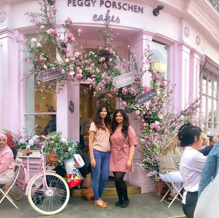 Peggy Porschen Cafe Belgravia Doorway Cake Pink