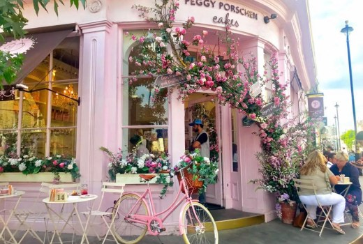 Peggy Porschen Cafe Belgravia Floral Flowers Cake Pink