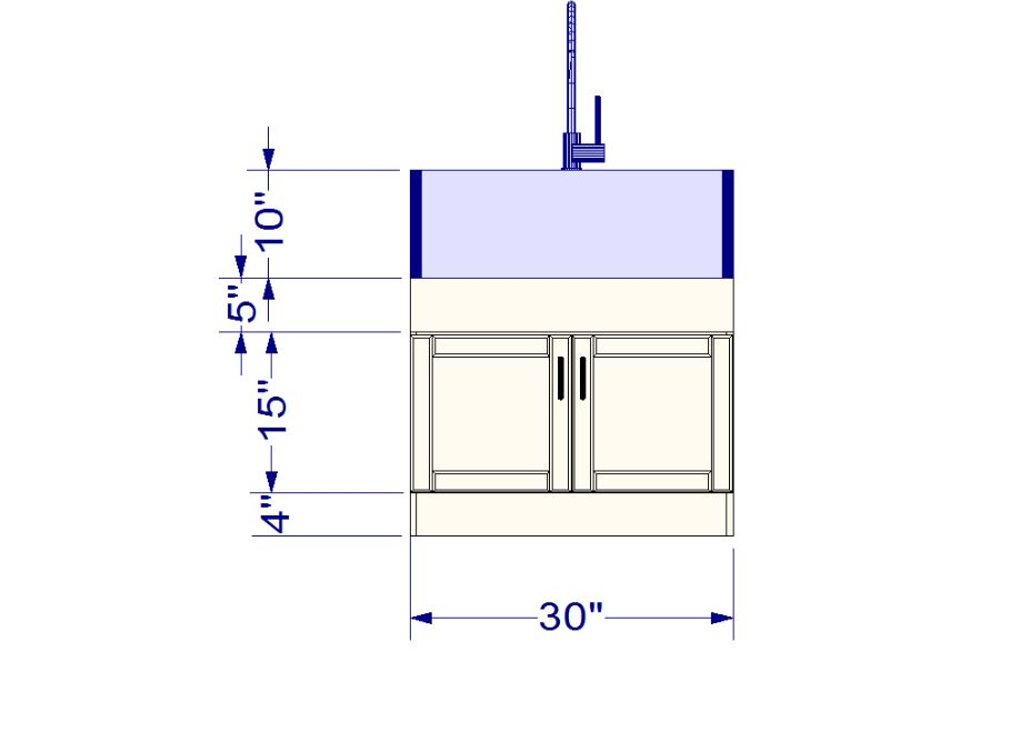 ikea kitchen hack a base cabinet for