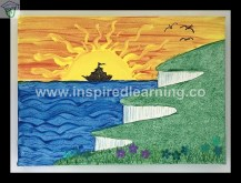 Painting and work on canvas using multimedia