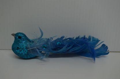 Blue glitter bird