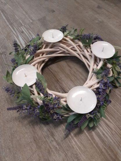 Lavender Candle Wreath